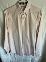 BURBERRY BRIT LONG SLEEVE BUTTON DOWN SHIRT PINK LARGE flawless