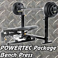 POWERTEC Olympic Bench Press WB-OB16  Package Shoulder Press Squats