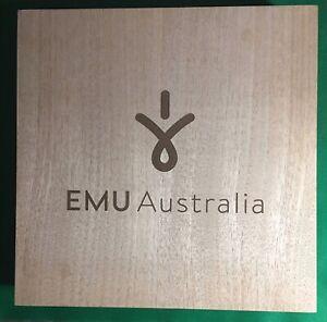 Emu Australia Wooden Advertising Sign Hangable Boots Slippers