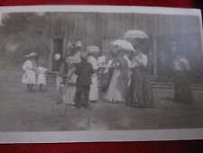 Vintage Postcard Social Function Ladies with Parasoles 1800's