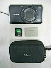 Canon PowerShot SX210 IS 14.1MP Digital Camera - Black TESTED Red Desc. (ARE)