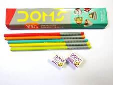 10x Doms Y1+ Super Dark Triangle Pencils |Hi-Quality Lead |Stylish DARK WRITING