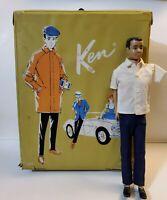 ☆VINTAGE BARBIE Retro 1960s~Yellow Ken Case w/Doll, Rare Collector's Toy!!☆