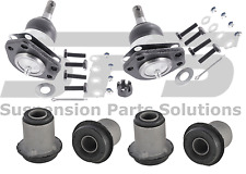 RWD GMC SAFARI Front Suspension Upper Ball Joints Control Arms Bushings Kit