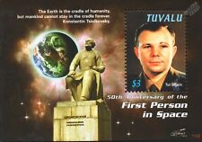 YURI GAGARIN / Konstantin Tsiolkovsky Monument / First Man in Space Stamp Sheet
