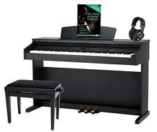 PIANOFORTE DIGITALE 88 TASTI PESATI 16 VOCI PANCHETTA CUFFIE USB LED NERO OPACO