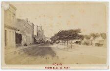CDV circa 1880. Royan (Charente-Maritime). Promenade du port.