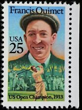1988 25c Francis Ouimet, Golf, U.S. Open Champion Scott 2377 Mint F/VF NH