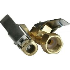 2pcs Auto Car Open Flow Straight Lock-On Air Chuck with Clip for Tire Inflator