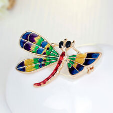 Charm Enamel Colourful Dragonfly Brooch Pin Women Costume Jewellery Accessories