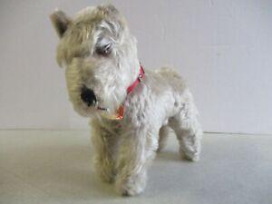 VINTAGE STEIFF TESSIE SCHNAUZER STUFFED ANIMAL DOG / PLUSH TOY