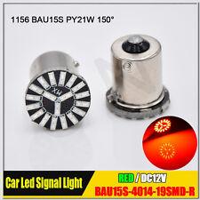 4x High Power BAU15S 7507 PY21W Red Brake/Tail/Turn Signal 4014 LED Light Bulbs