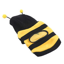 Bee Pet Coat Apparel Outfit Fleece Clothes Dog Cat Hoodie Fancy Clothing WA