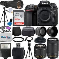 Nikon D7500 DSLR Camera 9 Lens 18-55 VR + 70-300 VR + 500MM + 32GB Top Value Kit