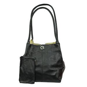 Women's Genuine Italian Leather  reversible Suede leather hand bag/Shoulder Bag