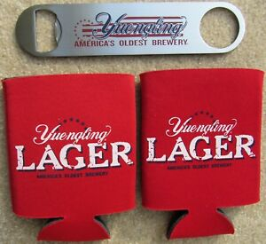 Yuengling Lager Beer 1 Speed Opener & 2 Coozies Koozie Lot BRAND NEW PA Brewery