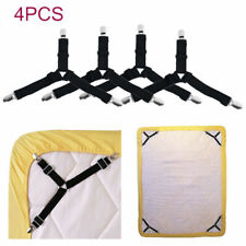4pcs Bed Sheet Mattress Holder Clips Fastener Grippers Suspender Straps
