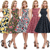 Vintage 1950's Style Swing Pinup Full Circle Prom Evening Party Dress