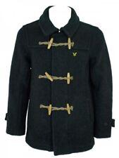 Lyle & Scott Vintage Diseñador Duffle Coat Corto De Calidad Carbón Talla M Rrp £ 235
