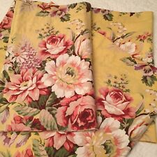 New Ralph Lauren  Brooke Self Lined Valance Yellow Floral 17x82 French Country