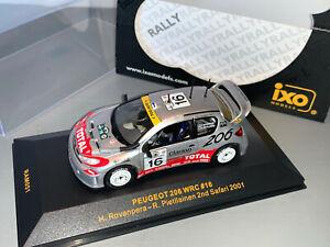 RALLY 1/43 IXO TOTAL PEUGEOT 206 WRC HARRI ROVENPERA SAFARI KENYA 2001 #16 RARE