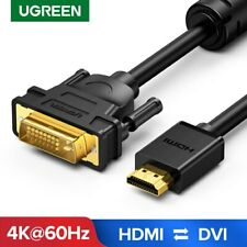 UGREEN HDMI to DVI D 24+1 Pin Cable Gold 1080P for HDTV Plasma DVD Projector