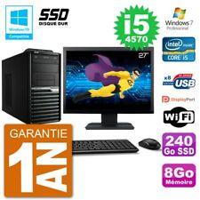 "PC Acer Veriton M4630G MT Ecran 27"" i5-4570 RAM 8Go SSD 240Go DVD Wifi W7"