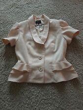 Primark women's stylish nude blazer / jacket size 10 Wedding / Short Sleeve