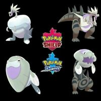 🔥 Pack 4 Pokémon Fossiles 6IV Shiny - 100% Legit - Pokémon Epée/Bouclier