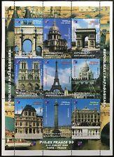 Madagascar MNH M/S 1999 Philex France Monuments Architecture Louvre