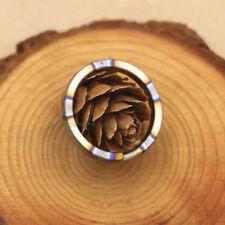 "Handmade Burning Titanium Ti 0.98"" Concise Round EDC Key Ring Key Chain KR-10F"