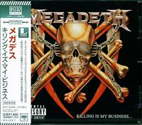 MEGADETH KILLING IS MY BUSINESS...JAPAN 2013 RMST CD+3 (BSCD2) NEW/GIFT QUALITY!
