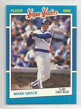 1990 Fleer League Leaders - #12 - Mark Grace - Chicago Cubs
