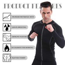 Men Exercise Sweat Shirt Sauna Suit Neoprene Slimming Fitness Jacket Gym Wear