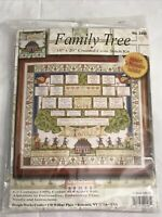 "Family Tree Counted Cross Stitch Kit # 2498 Design Works 16""x20"" NEW"