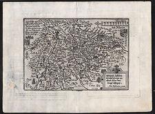 SALZBURGER LAND Umgebung Landkarte von Henricus Nagel um 1590 schönes Original