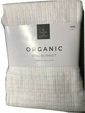 Under The Canopy Organic Cotton Matelasse Blanket -White- Size: King