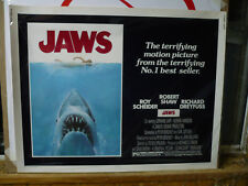 JAWS, nr mint 1975 orig rolled 22x28 / movie poster [Steven Spielberg]