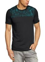 New Men's Reebok PlayDry Workout T-Shirt Top - Black - Gym Training Fitness