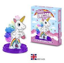 MAGIC GROWING RAINBOW UNICORN Kids Crystal Kit Paper Tree Christmas Gift Toy UK