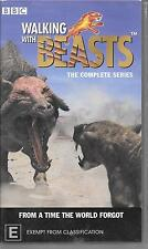 VHS walking with dinosaurs walking with beasts complete series combo c.1999/2003
