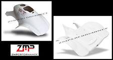 NEW HONDA TRX 300EX TRX 250X WHITE PLASTIC RACE FRONT AND REAR FENDER SET