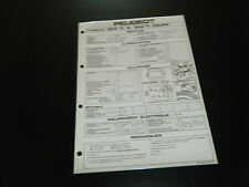 FICHE TECHNIQUE FACOM PEUGEOT 604  TI & 504 TI COUPE  (T2)
