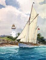 """Bermuda Weekend"" Tom Freeman Limited Edition Sailing Print"