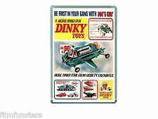 60's NOSTALGIA - TV21 COMIC JOE 90 DINKY TOYS ADVERT - JUMBO FRIDGE MAGNET