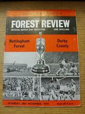 28/11/1970 Nottingham Forest v Derby County  (Creased, Rusty Staples/Marks)