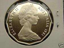 1981 50 cent proof coin. Only 86,100 made! Brilliant coin in 2 x 2 holder! NICE!