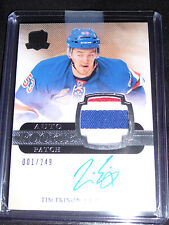 11-12 The Cup Tim Erixon Auto 3CLR Patch RC 1/249 * 1/1 His First! * Rookie Wow