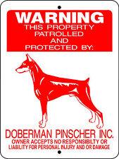 Doberman Guard Dog Aluminum Sign Decal D2496
