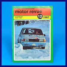 DDR ▶▶ CSSR-Motor-Revue Motorrevue 12/1987 Skoda Tatra Liaz Enduro Jawa